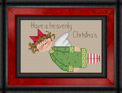 Have a heavenly Christmas angel cross stitch pattern by Jennifer Creasey