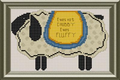 Lamb cross stitch pattern by Jennifer Creasey