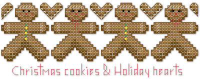 Christmas gingerbread cookies cross stitch pattern by Jennifer Creasey