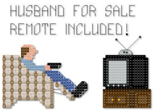 Husband for sale remote included cross stitch pattern by Jennifer Creasey