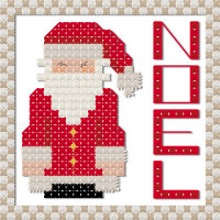 Christmas noel Santa cross stitch pattern by Jennifer Creasey