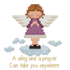 Angel cross stitch pattern by Jennifer Creasey